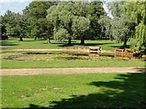 TF7928 : Pond at New Houghton Hall by Adrian S Pye