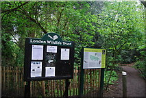 TQ3472 : Information at the entrance to Sydenham Hill Wood by N Chadwick