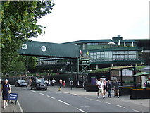 TQ2472 : Temporary bridge, Wimbledon tennis  by Malc McDonald