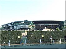 TQ2472 : No. 1 court, Wimbledon by Malc McDonald