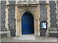 TQ2471 : St Mary's church, Wimbledon: entrance by Stephen Craven