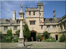 SP5106 : The sundial in Front Quad at Corpus Christi College, Oxford by Marathon