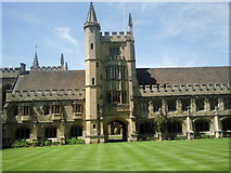 SP5206 : Looking across the Cloister, Magdalen College, Oxford by Marathon