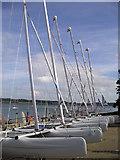 SH5066 : Catamarans, Plas Menai by Chris Andrews