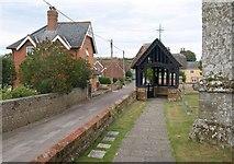 ST8609 : Lych gate, Stourpaine by Derek Harper