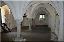 TM4599 : 13th Century Brick Vaulted Undercroft by Ashley Dace