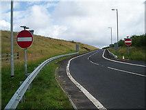 NS4947 : Slip Road Off M77 by Gordon Dowie