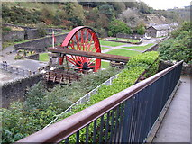 SC4384 : Lady Evelyn Wheel, Laxey by Anne and Jeff Rolfe