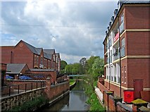 SJ9223 : River Sow, looking west by P L Chadwick
