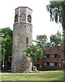 TG2208 : The tower of St Benedict's church, Norwich by Evelyn Simak