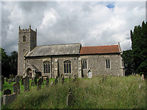 TG3609 : St Peter's church in Lingwood by Evelyn Simak