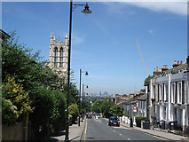 TQ3370 : Gipsy Hill, with the City in the distance by Donald MacDonald