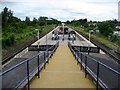 NZ4215 : Walkway to Eaglescliffe Station by Chris Heaton