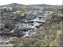 NG0889 : Outfall from Upper Loch Malcolm by David Purchase