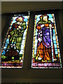 SZ6498 : St Jude, Southsea: stained glass windows (1) by Basher Eyre