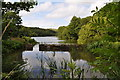 SS5045 : Slade Reservoir now known as Slade Fishery by Roger A Smith