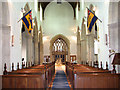 TF8411 : St Mary's church in Sporle - view west by Evelyn Simak