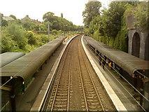 SP0585 : Five Ways railway station by Andrew Abbott