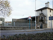 ST1974 : Entrance to Cardiff Bay railway station by Jaggery
