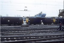 SP8633 : Locomotives stabled at Bletchley Station by roger geach