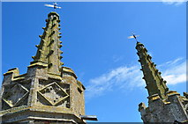 TM3389 : Spirelets at St Mary's Church by Ashley Dace