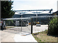 TM3791 : Big silos behind big security fence by Evelyn Simak