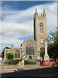 TM3389 : West front of St Mary's church, Bungay by Evelyn Simak