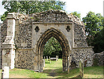 TM3389 : St Mary's church in Bungay - nunnery ruins by Evelyn Simak
