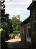 TM3389 : The tower of Holy Trinity church, Bungay by Evelyn Simak
