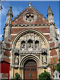 TM3389 : The Catholic church of St Edmund, Bungay - west front by Evelyn Simak