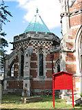 TM3389 : The Catholic church of St Edmund, Bungay - baptistery by Evelyn Simak