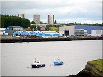 NZ2964 : River Tyne from Hebburn Riverside Park by Andrew Curtis