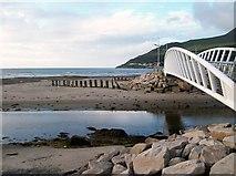 J3731 : The Shimna below the new promenade footbridge by Eric Jones