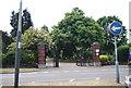 TG2008 : Norwich City (Earlham Road) Cemetery - Farrow Rd entrance by N Chadwick