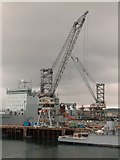 SW8132 : Docks near the National Maritime Museum in Falmouth by Neil Theasby