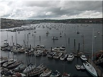 SW8132 : A grey view of Falmouth harbour from The National Maritime Museum (Cornwall) by Neil Theasby