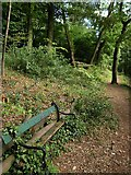 SX9065 : Seat, Chapel Hill Pleasure Grounds by Derek Harper
