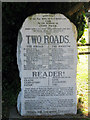TR2552 : Memorial Headstone at St Peter's Church by Oast House Archive