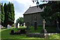 SN4760 : St. Non's church and churchyard, Llanerchaeron by Nigel Brown