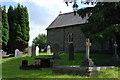 SN4760 : St. Non's church and churchyard, Llanerchaeron by Nigel Brown