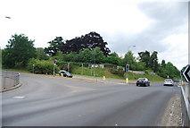TG1807 : Traffic lights on the B1108, Colney by N Chadwick