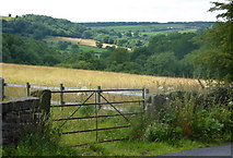 SK3463 : Countryside view from Butts Road by Andrew Hill