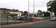 J0407 : Car park opposite the Bus Eireann Depot in The Long Walk by Eric Jones