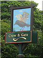 TQ4928 : Crow & Gate sign by Oast House Archive
