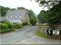 SE7296 : Rosedale Abbey - village boundary by Chris Allen