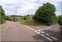 SS9502 : Road junction near Silverton by Derek Harper