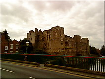 SK7954 : Newark Castle from the bridge over the River Trent by Andrew Abbott