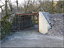 SH5848 : Railway Bridge near Beddgelert Station by Simon Melhuish