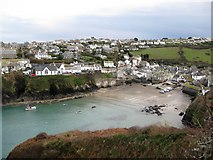 SW9980 : Port Isaac from Lobber Point by Ken Ripper