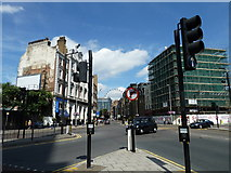 TQ3179 : Looking up Westminster Bridge Road towards a distant London Eye by Basher Eyre